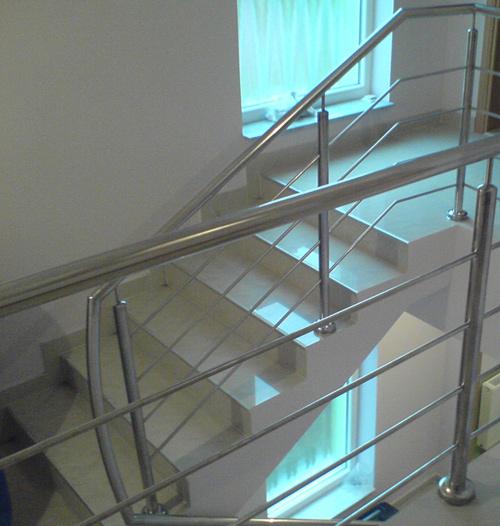 Inox ograda - stepenice.